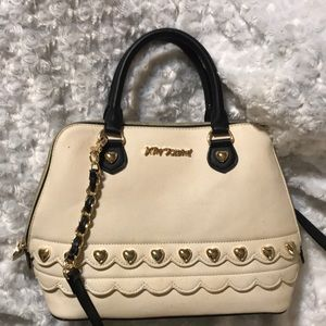 Cream Betsey Johnson handbag